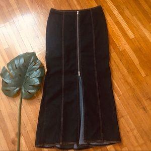 Bison-Bisou Dark-Denim Long Mermaid Skirt Size 10
